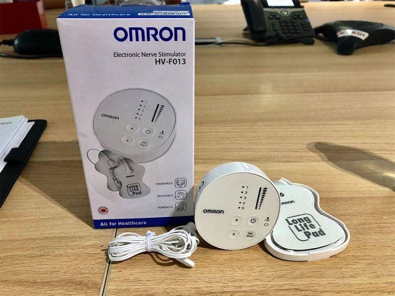 Mô tả máy xung điện trị liệu Omron Hv F013