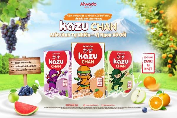 Review Sữa Kazu Chan có tốt không sữa trái cây
